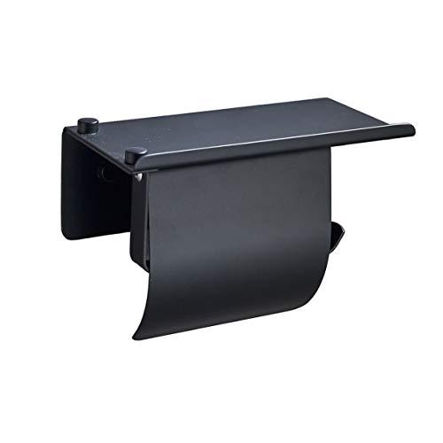 YingQ Toilettenpapierhalter Ohne Bohren, 304 Edelstahl,Selbstklebender 3M-Kleber, Es Besteht Keine Sturzgefahr, Schwarz poliert Toilettenpapier