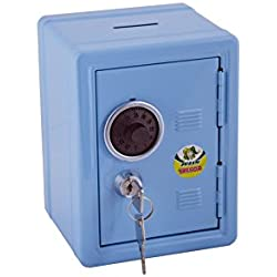 Jolly 9920–0002–Hucha, diseño caja fuerte en color azul claro