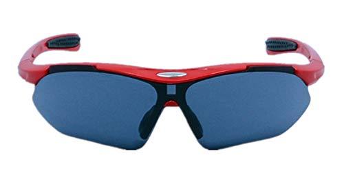 Blisfille Polarisierte Sportbrille Im Freien Hd Myopie Sun Sport Wind Reiten Gläser Red Gray Damen Herren