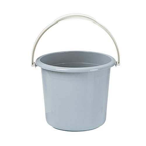 AAPP SHOP Cubo de Agua portátil Cubo de la Ropa del hogar Cubo de Lavado de Coches Cubo pequeño Cubo de la fregona de plástico Engrosada baño Tambor Cubo de plásticoGris Claro