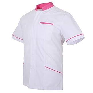 MISEMIYA Casaca Señora Mangas Cortas Uniforme Laboral Clinica Hospital Limpieza Veterinaria Sanidad Hostelería Pantalones utilidades de Trabajo Mujer