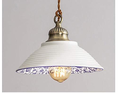 Porzellan Home Decor (Lampen Pendelleuchte Deckenlampe Hängelampe Kronleuchter Keramik Pendelleuchten Vintage Led Retro Porzellan Hängelampe Für Home Loft Decor Küche Beleuchtungskörper E27)