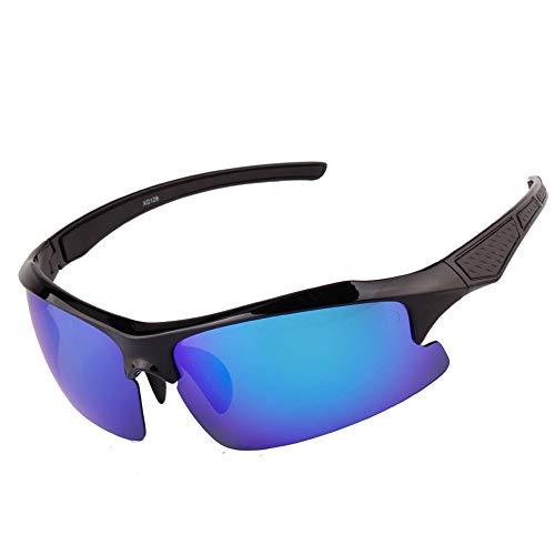 Wangwen Polarisierte Sport Sonnenbrille Für Männer Frauen Jugend Baseball Militär Motorrad Fischen (Color : BrightBlack)