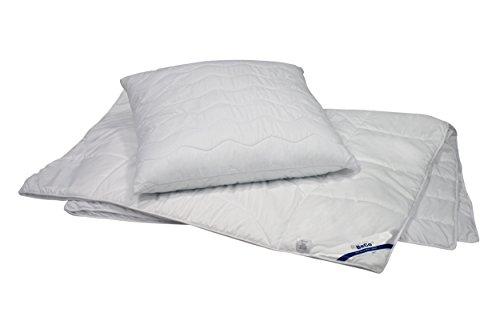 Interbett 135+80 2tlg. SET 4JZ+Kissen Bettdecke und Kissen Set, Polyester, weiß, 200 x 135 x 5 cm