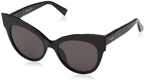 Max mara mm anita ir 807 52, occhiali da sole donna, nero (black/gy grey)