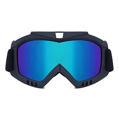 Griselda Max Männer Frauen Ski Snowboard Maske Winter-Schneemobile Skibrille Windundurchlässiges Skifahren Glass Motocross Sonnenbrille Mouth Filter (Color : Brown)