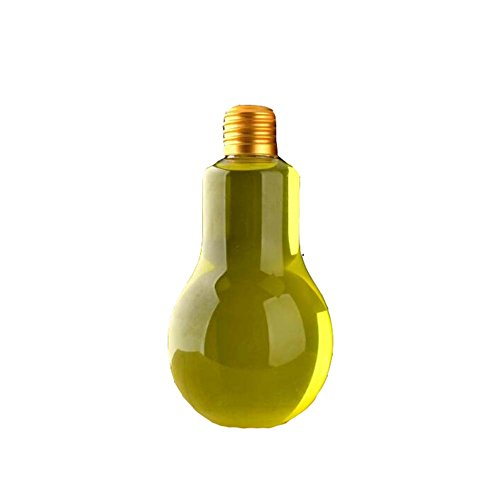 10 Stück Einweg Transparent Glühbirne Form Saftflaschen mit Deckel (300 ml) (Klar Glühbirne Appliance)
