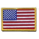 Écusson brodé Flag Patch USA Etats-Unis - 8 x 6 cm