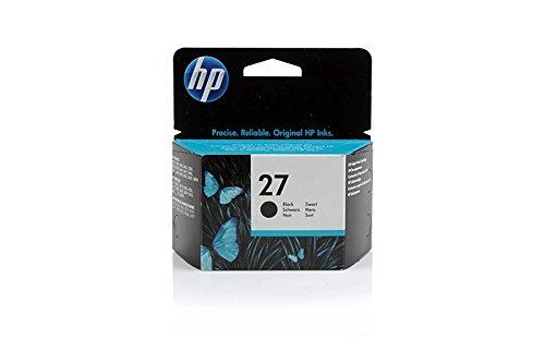Original Tinte passend für HP PSC 1315 Series HP 27 , 27BK , 27BLACK , NO27 , NO27BK , NO27BLACK , Nr 27 C8727AE , C8727AEABB , C8727AEABD - Premium Drucker-Patrone - Schwarz - 280 Seiten - 10 ml (Hp 3845 Drucker)