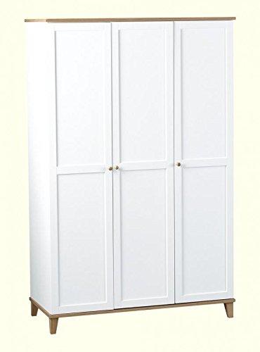 Xpress delivery arcadia 3ante in bianco e impiallacciatura effetto frassino
