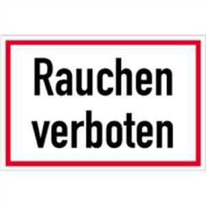Schild Rauchen verboten PVC 20 x 30cm (Rauchverbot, Verbotszeichen) praxisbewährt, wetterfest