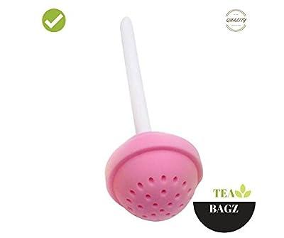 TEA-BAGZ/ Lot de 2 Infuseurs de Thé /En forme de Sucette Gourmande / Idéal pour une infusion Bio/Tisane/Thé vert,/ Thé noir/ Accessoires Home et Cuisine/ Diffuseur à Thé Original/ Diffuseur à Thé de Haute Qualité / Diffuseur de thé 100% silicone/ Infuseur