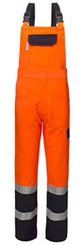 Salopette Alta Visibilita' Misto Cotone Arancio/Blu A50130 (XXL)