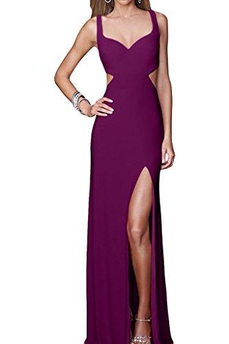 Ivydressing Damen Sexuell Schlitz Rueckenfrei Traeger Partykleid Promkleid Abendkleid Traube