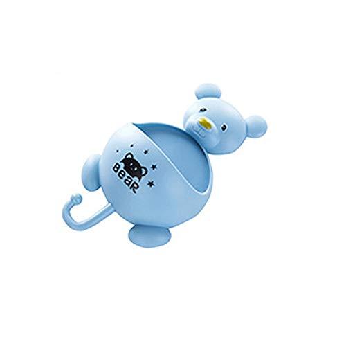 TDFGCR Bad Küche Halter Seifenschale Zahnbürste Rack Regal Veranstalter Kleiderbügel—Hellblau