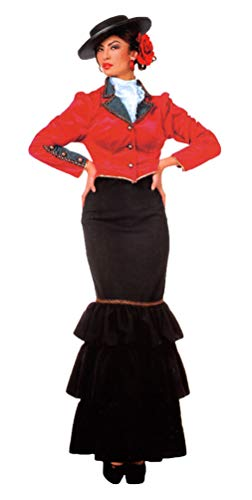Karneval-Klamotten Spanierin Kostüm Damen-Kostüm Flamenco Kostüm Größe 46