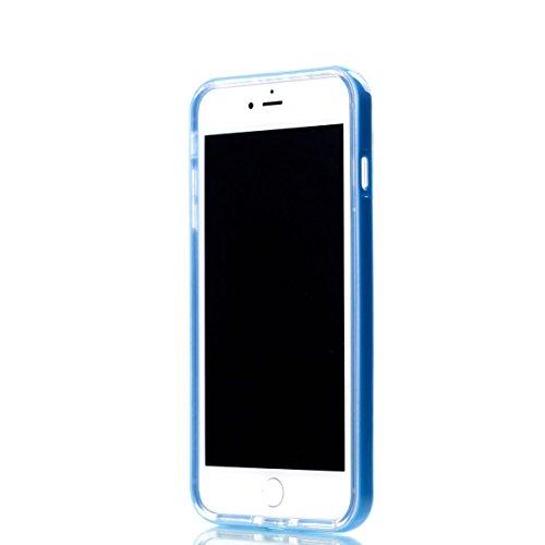 iPhone 8 plus 2-in-1 (Tpu silicone Custodia e PC Frame)Transparente Cover, iphone 7 plus Cover Puro, Ekakashop Moda Disegni Vintage Elegante Colorate Ultra Slim Sottile Morbida Soft TPU Silicone Clear Sognare