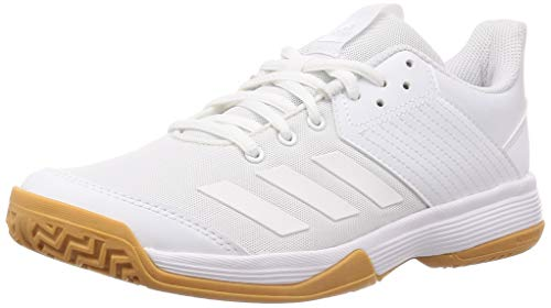 adidas Womens Ligra 6 Volleyball Shoe, Cloud White/Cloud White/Gum, 39 1/3 EU