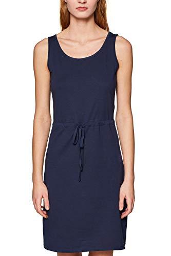 edc by ESPRIT Damen 049CC1E023 Kleid, Blau (Navy 400), Large (Herstellergröße: L)
