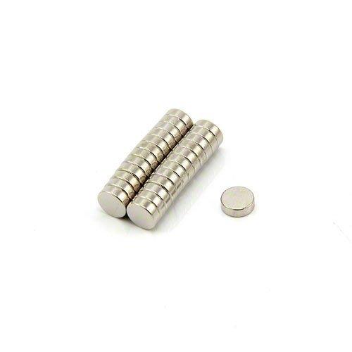 First4magnets F362-25 6mm Durchmesser x 2mm dicken N42 Neodym-Magneten - 0,73 kg ziehen (Packung mit 25) silver 25 x 10 x 3 cm, Stück