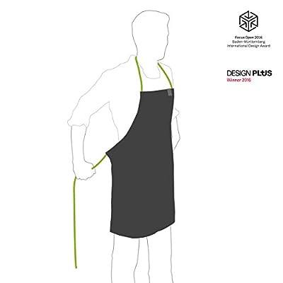 höfats - Schürze mit Tasche, Tuchriemen und inklusive Handtuch aus 100% Leinen - Grillschürze für Männer und Frauen