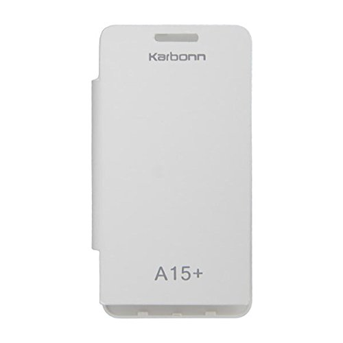 Acm Flip Case For Karbonn Smart A15+ Plus Mobile Front & Back Flap Folio Cover-White  available at amazon for Rs.389