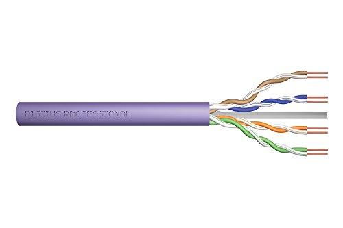 DIGITUS Verlege-Kabel Cat-6 U-UTP - 100-m Simplex im Karton - AWG 23/1 - LAN Netzwerk-Kabel - 250-MHz - Eca - LSZH-1