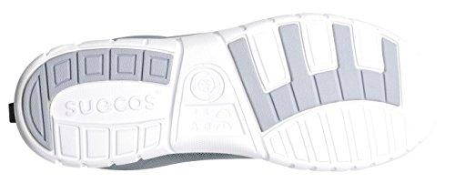 clinicfashion Schnürschuh federleicht für Damen und Herren, weiß, Größe 36-46 Weiß