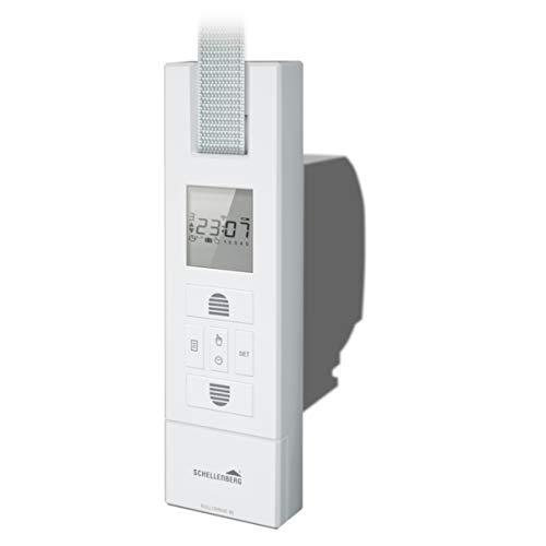 Schellenberg 22766 elektrischer Gurtwickler RolloDrive 65 Plus, weiß / Unterputz Rolladenantrieb für 23 mm Rolladen-Gurt, Zugkraft max. 45 kg / mit Display, Zeit- und Astrofunktion / inkl. Netzstecker -