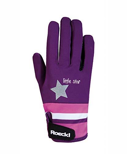 Roeckl Sports Junior Handschuh -Kelli- Kinder Reithandschuh, Beere, 6