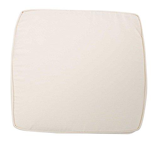 Stuhlkissen Sitzkissen Sitzpolster Gartenstuhlauflage TILO 30 | 48x48 cm | Weiß | Polyester