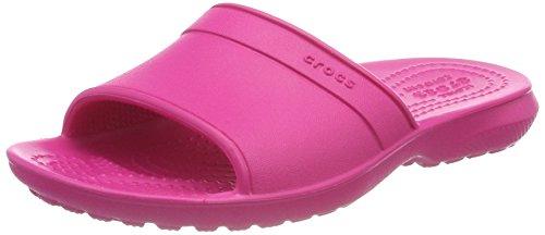 Crocs classic slide, sandali a punta aperta unisex-bambini, rosa (candy pink), 29/30 eu