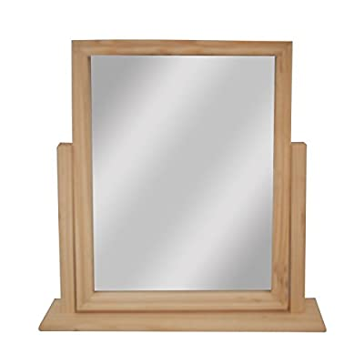 "Pine Framed Standing Mirror 9"" x 7"" - low-cost UK light shop."