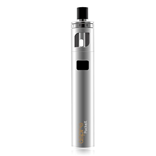 Aspire PockeX Pocket AIO Starter Kit 2ml Tank Capacity 1500mah Battery with  0 6ohm U-tech Coil Pre-installed All In One Original (Silver)
