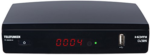 Telefunken TF-S9200-K Full HD Satelliten Receiver (DVB-S2, HDTV, Media Player, EPG, HDMI, USB) schwarz