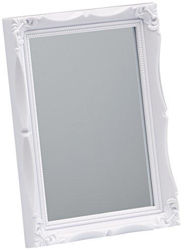 Walther SP017W Wohnraumspiegel mit Kunststoff-Leiste, 13 x 18 cm, weiß