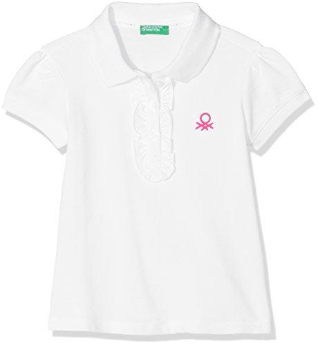 United Colors of Benetton Mädchen Poloshirt H/S Polo Shirt, Weiß, KL