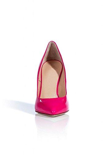 Onlymaker Damenschuhe High Heels geschlossene Pumps Spitze Toe Sandale von Hand gemacht Pink