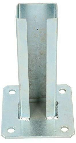 KOTARBAU Pfostenträger 60 x 40 mm Pfostenschuh Zaunpfosten Doppelstab Doppelpfosten Gittermatten Dübelplatte Pfostenanker Aufschrauben Bodenplatten