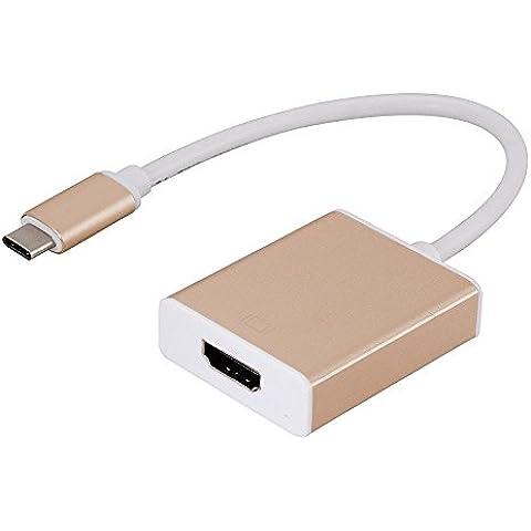 cooliker USB 3.1Tipo C a HDMI cavo adattatore convertitore 1080p HDTV per Macbook Air 3.1, Monitor, Proiettori e altri dispositivi supportati tipo C