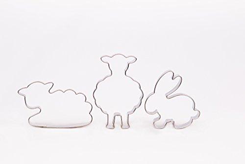 Schaf stehend, Schaf, Hase, 3er Set Ostern, Ausstecher, Ausstechform aus Edelstahl