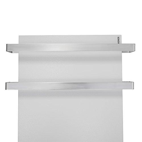 VASNER Aluminium Handtuchhalter und Handtuchwärmer Set für Infrarotheizungen Citara Glas, Metall & Metall Plus im Bad