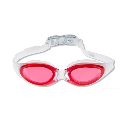 Sunny Honey Schwimmbrille Flacher Spiegel Wasserdicht Anti-Fog Und UV-Schutz Klare Vision Erwachsene Männer Und Frauen Wassersport Ausrüstung (Farbe : Rose rot)