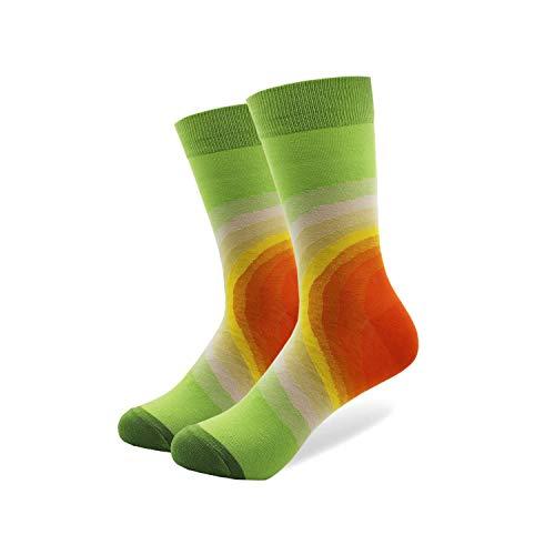 , Kleidersocken Packung, 1 Pair Happy Funny Men's Socks High Quality Combed Cotton Long Colored Dress Socks Novelty Tube Skateboard Wedding Socks Cool 060-4 US (7-10) EU(39-46) ()
