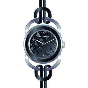 Ted Lapidus A0285MNPN - Reloj analógico de cuarzo para mujer con correa de piel, color negro