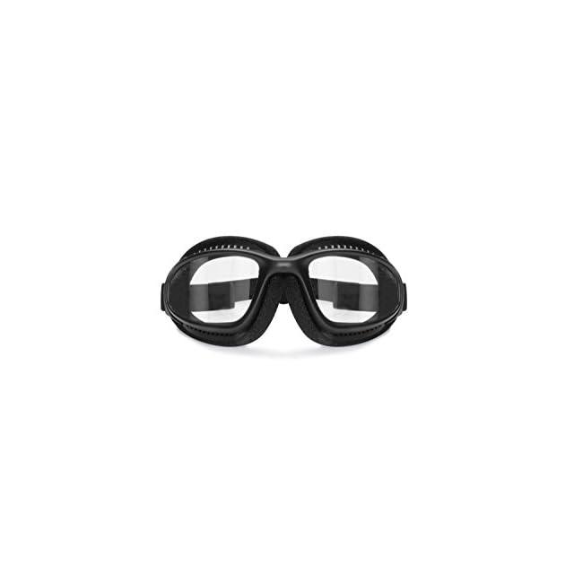 e9be00a622fd2d ... Lunettes pour Moto Antibuee - Mousse de Protection - Bande élastique  ajustable pour Casque - Bertoni