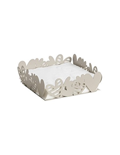 Portatovaglioli batticuore tortora metal 54272 brandani