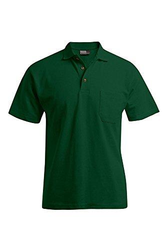 Poloshirt mit Brusttasche Herren Waldgrün