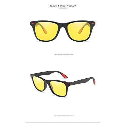 Taiyangcheng Polarisierte Sonnenbrille Männer Nachtsicht Sport Sonnenbrille Frauen Urlaub Sicherheit Schutzbrillen,Schwarz rot gelb