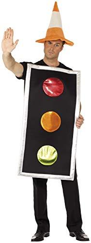 Smiffys, Herren Ampel Kostüm, Tunika und Leitkegel Hut, One Size, 20366